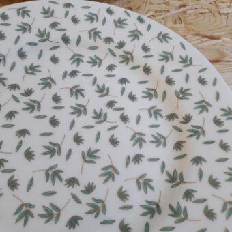 vajilla decorada nefufar turquesa