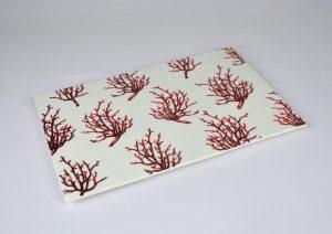 bandeja porcelana coral