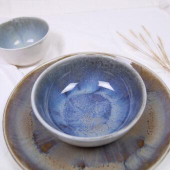 vajilla iris porcelana