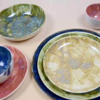vajilla frutas porcelana